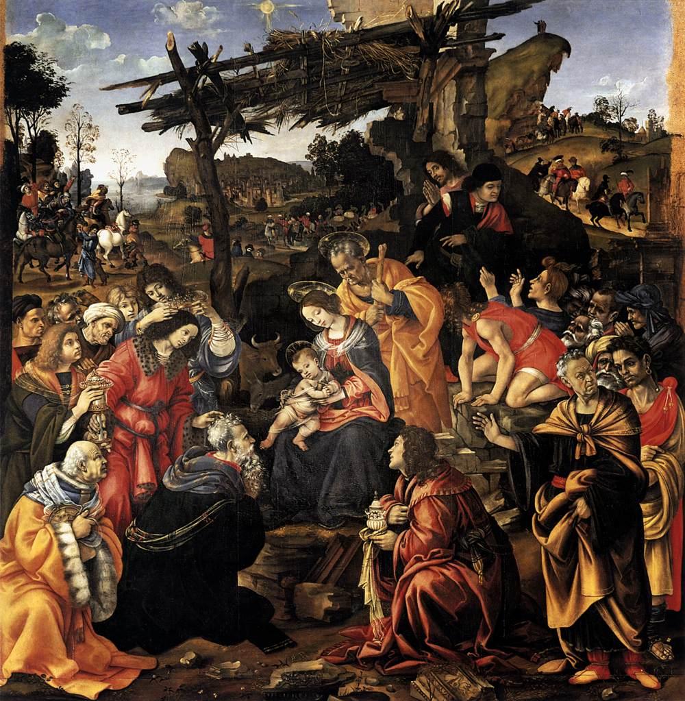 Adorazione dei Magi Filippino Lippi Uffizi Firenze