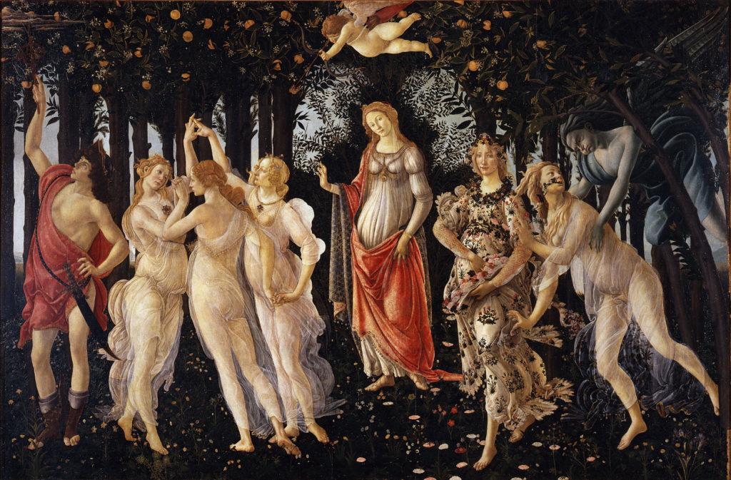 Galleria degli Uffizi- La Primavera di Botticelli