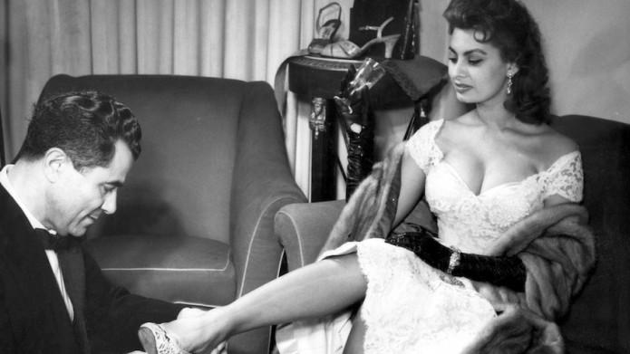 Salvatore Ferragamo e Sophia Loren