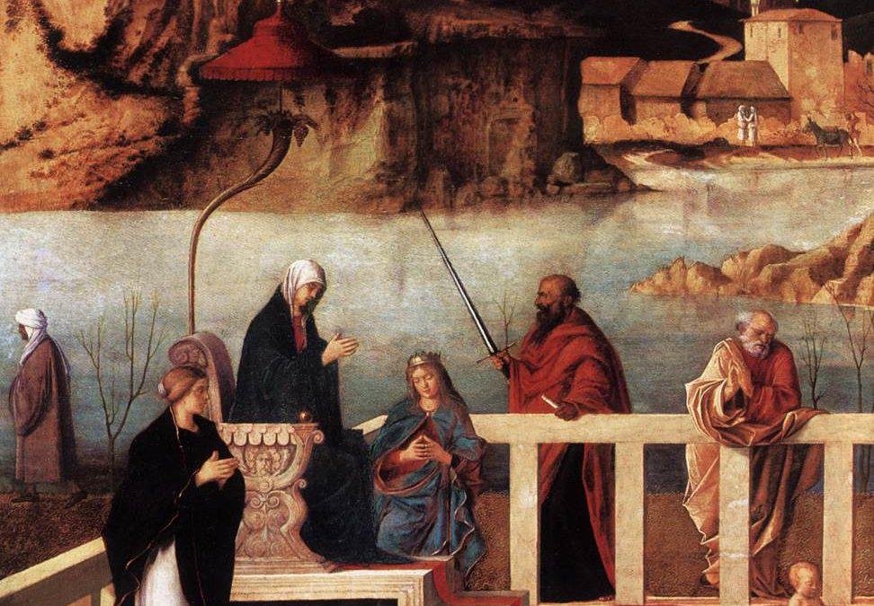 Museo degli Uffizi: l'Allegoria Sacra di Giovanni Bellini