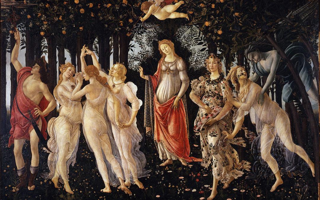 Botticelli agli Uffizi di Firenze: Allegoria della Primavera