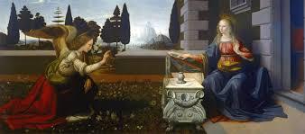 Annunciazione Leonardo Uffizi