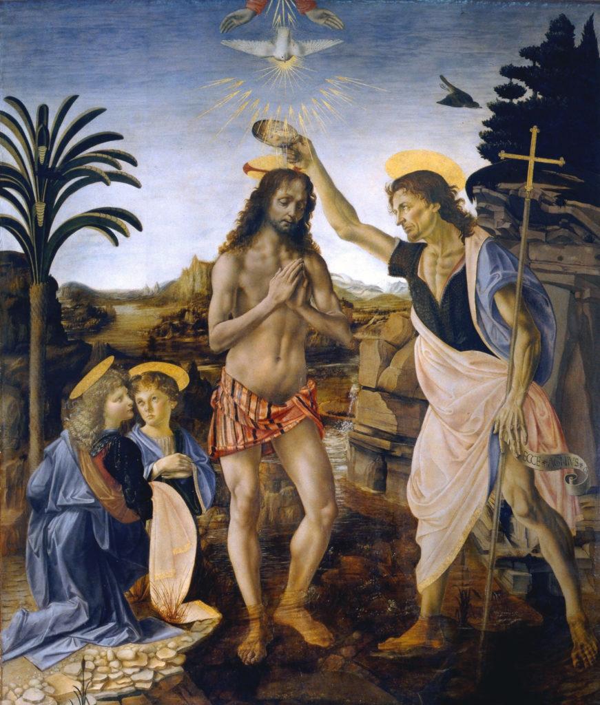 Battesimo di Cristo, Leonardo Da Vinci e Verrocchio
