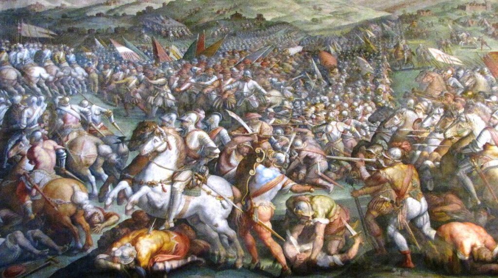 Interno Salone dei Cinquecento a Palazzo Vecchio
