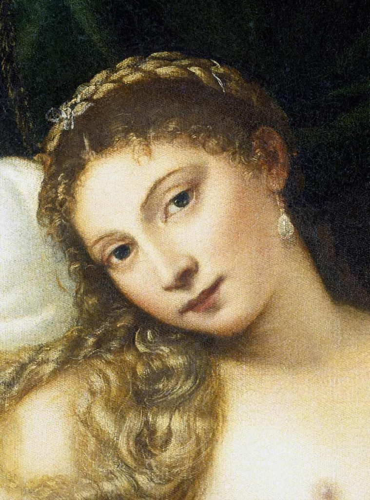 Tiziano, dettaglio Venere di Urbino
