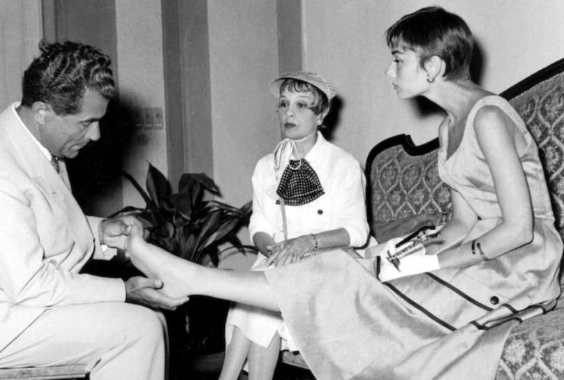 Salvatore Ferragamo e Audrey Hepburn