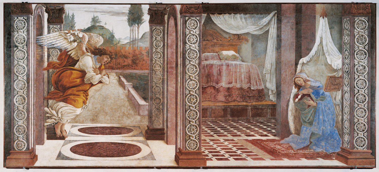Botticelli agli Uffizi Annunciazione